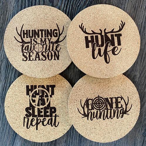 Hunting Cork Coasters