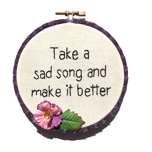 Sad Song Embroidery