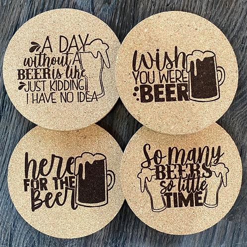 Beer Cork Coasters