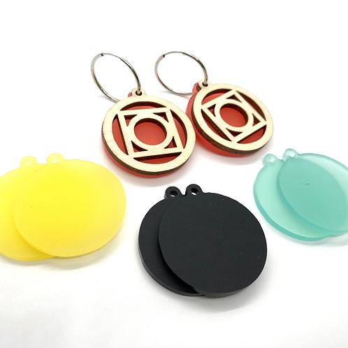 Large Circle Earring Set