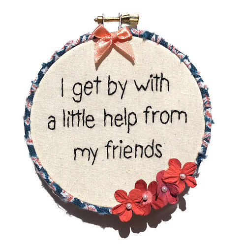 A Little Help Embroidery