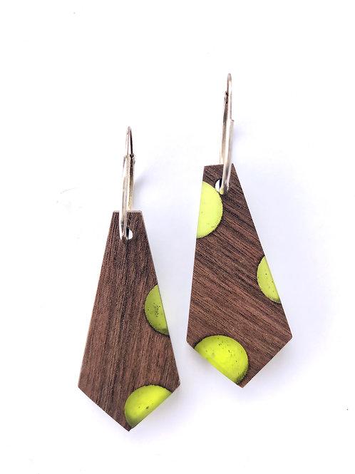 Wood and Resin Earrings #28