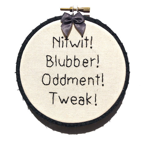 Nitwit! Embroidery