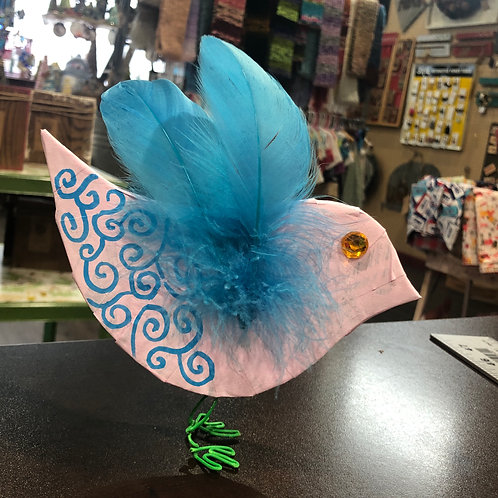 Paper Mache Bird -May 6th