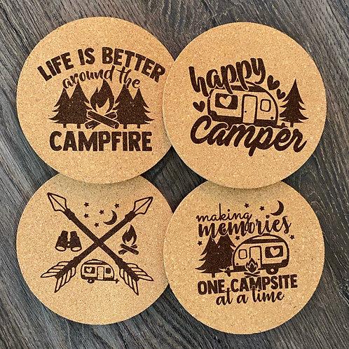 Camping Cork Coasters