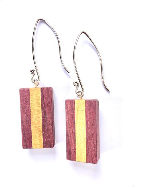 Wood Earrings #23