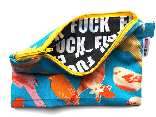 Orange Birds F* Bag