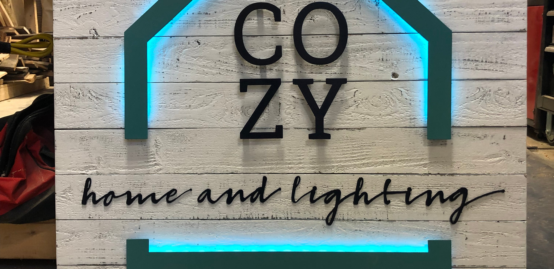 Custom Business Sign Wood/Steel/LED