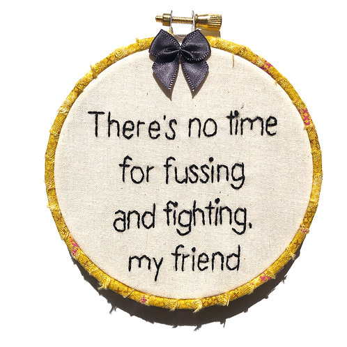 Fussing/Fighting Embroidery