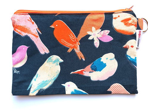 Orange Birds/Navy F* Bag