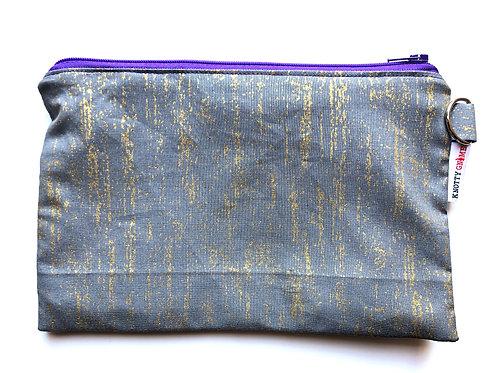 Gray/Gold F* Bag