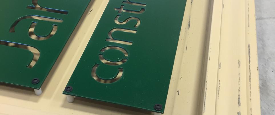 Custom Business Sign Wood/Steel