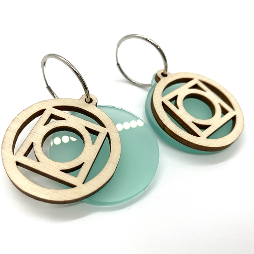 Turquoise  Small Circle Earrings