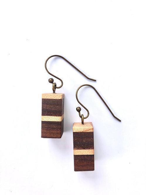 Wooden Earrings #21