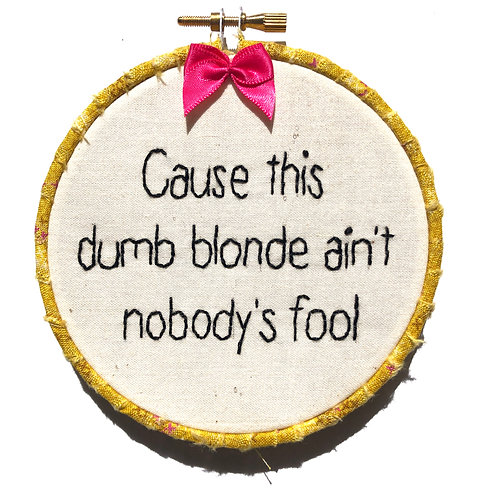 Dumb Blonde Embroidery