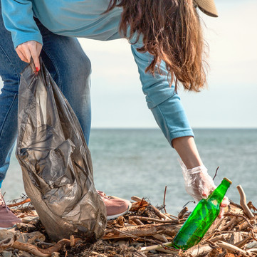 Canva - A young woman on a clean-up of t