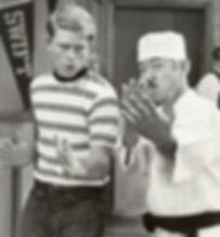 Ron Howard y Pat Morita en Happy Days, 1975