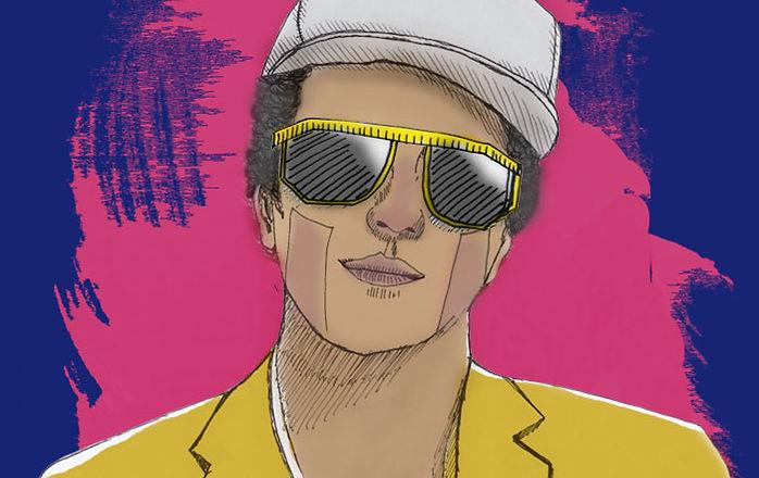 Bruno Mars Ilustración de Ana Navarro para Mapa Gris