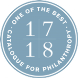 Catalogue for Philanthropy award for being one of the best nonprofit organizations in Washington D.C. in the 2017-2018 year