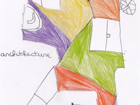 Architectures futuristes :Ewann, Louise, Mathilde, Milo et Sacha .