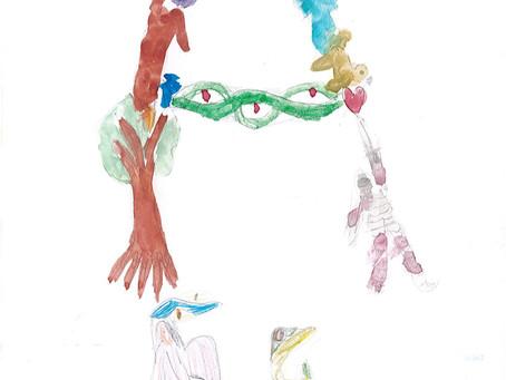 A partir d'enluminures de lettres : Anna R,  Clémence, Ewann, Héloïse, Milo, Louise.