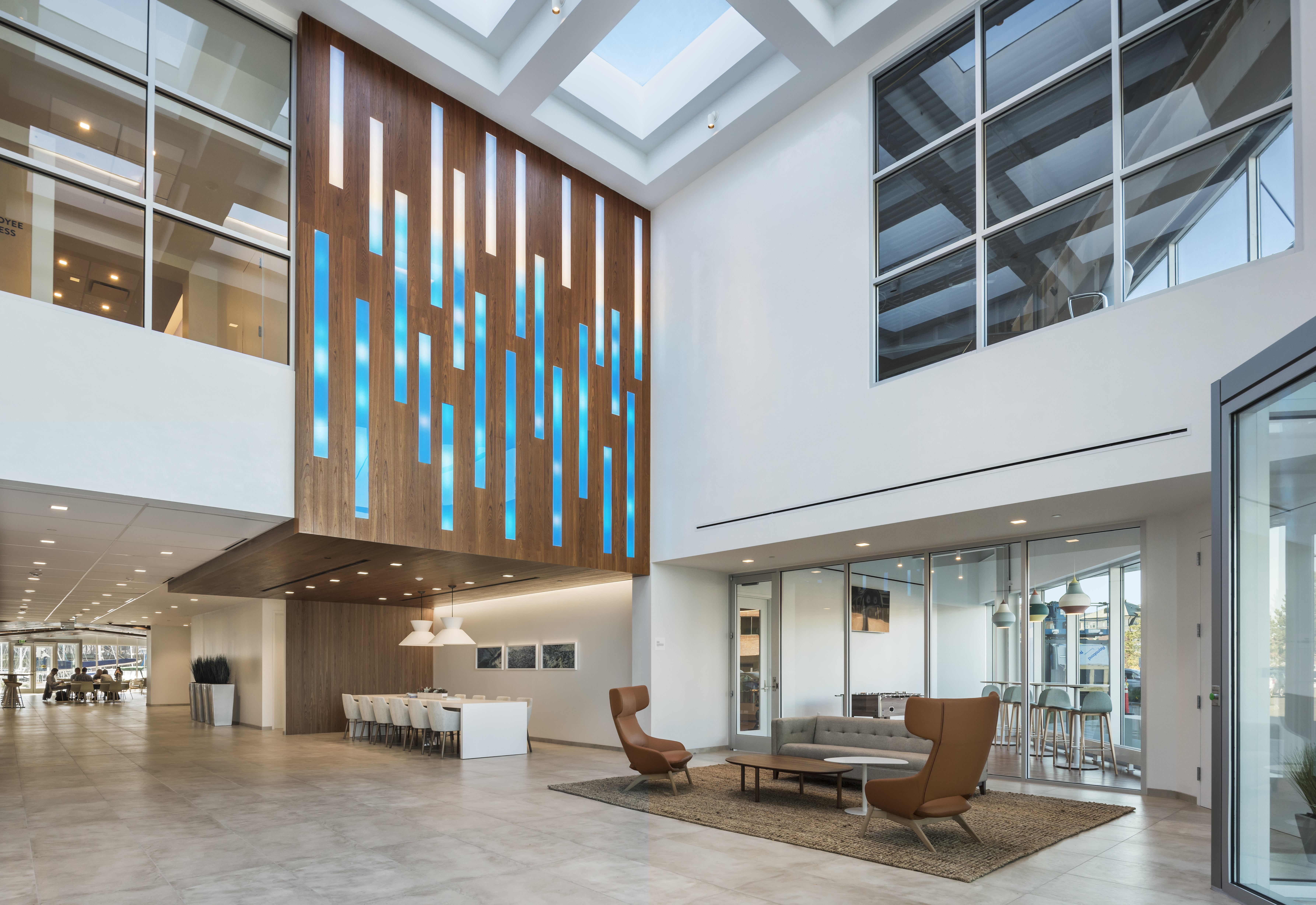 New atrium and entrance experience