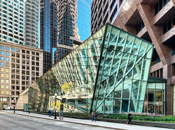 New Entrance, Retail Space and Interior Landscape for a downtown commercial office building - Perkin