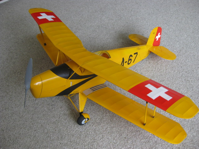 Rubber powered Bucker Jungmann