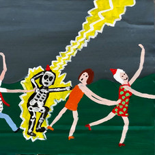 Piece 27 - lightning strikes, but the conga line continues