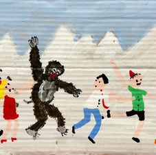 Piece 21 - The Yeti leaves his hiding place and joins the conga line