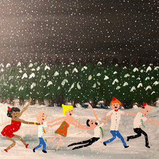 Piece 8 - heavy snowfall, but the conga continues!