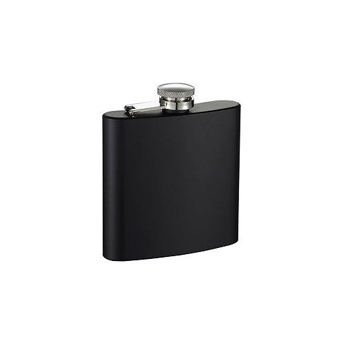 6oz Stainless Steel Flask, Matte Black