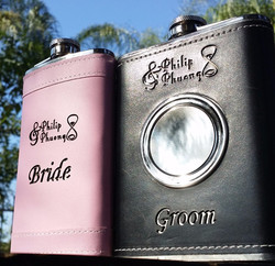 His/Her Engraved Flasks