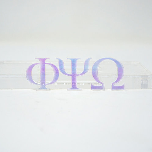 Unicorn Acrylic Greek Alphabet Letters with Adhesive Backing