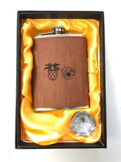 Engraved Wooden Flask