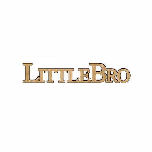 """""""Little Bro"""" Connected Letters with Adhesive Backing, Single-Stacked"""