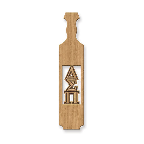 Delta Sigma Pi Traditional Greek Paddle w/ Unassembled Incut Letters, Oak