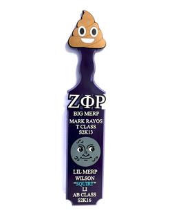 poop emoji traditional custom paddle