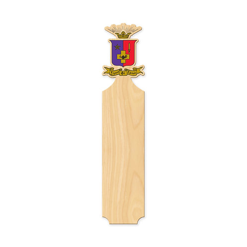 Sigma Phi Epsilon Traditional Greek Paddle w/ Vinyl Crest Handle