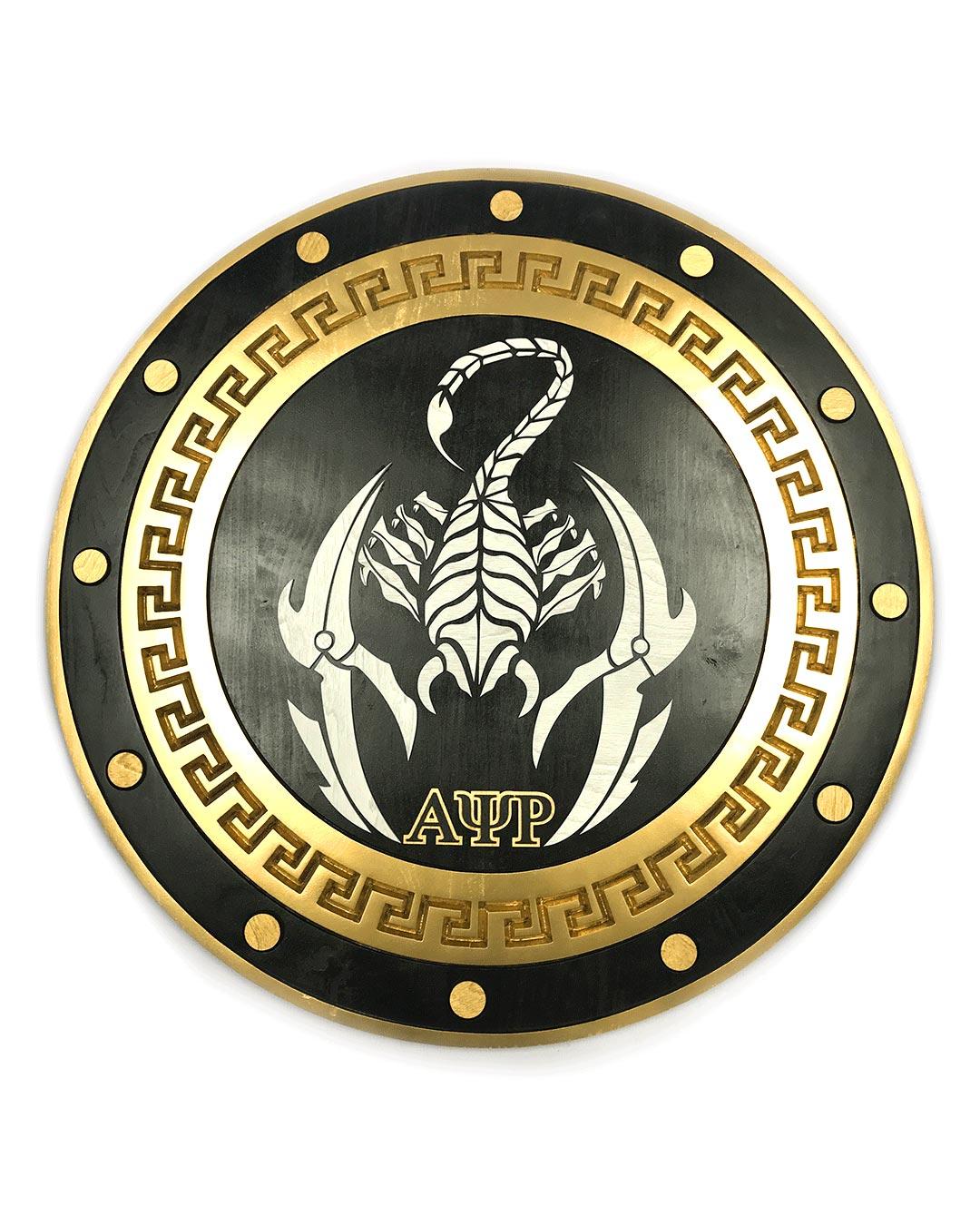 gold circle greek paddle