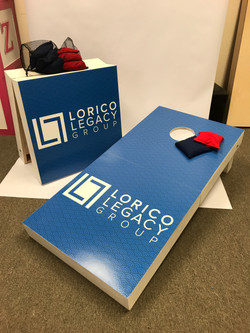 Custom Dual Purpose Cornhole/Sign