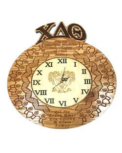 custom greek paddle with clock