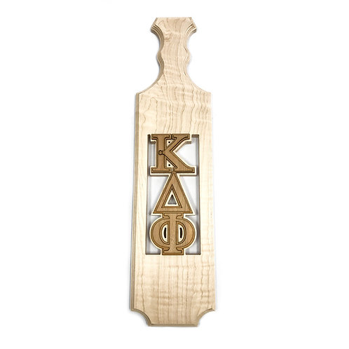 alpha Kappa Delta Phi Traditional Greek Paddle w/ Unassembled Letters, Maple