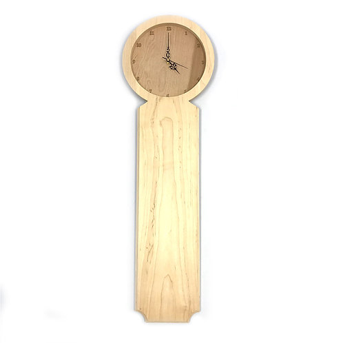 Traditional Fraternity or Sorority Wooden Maple Paddle with Embedded Clock
