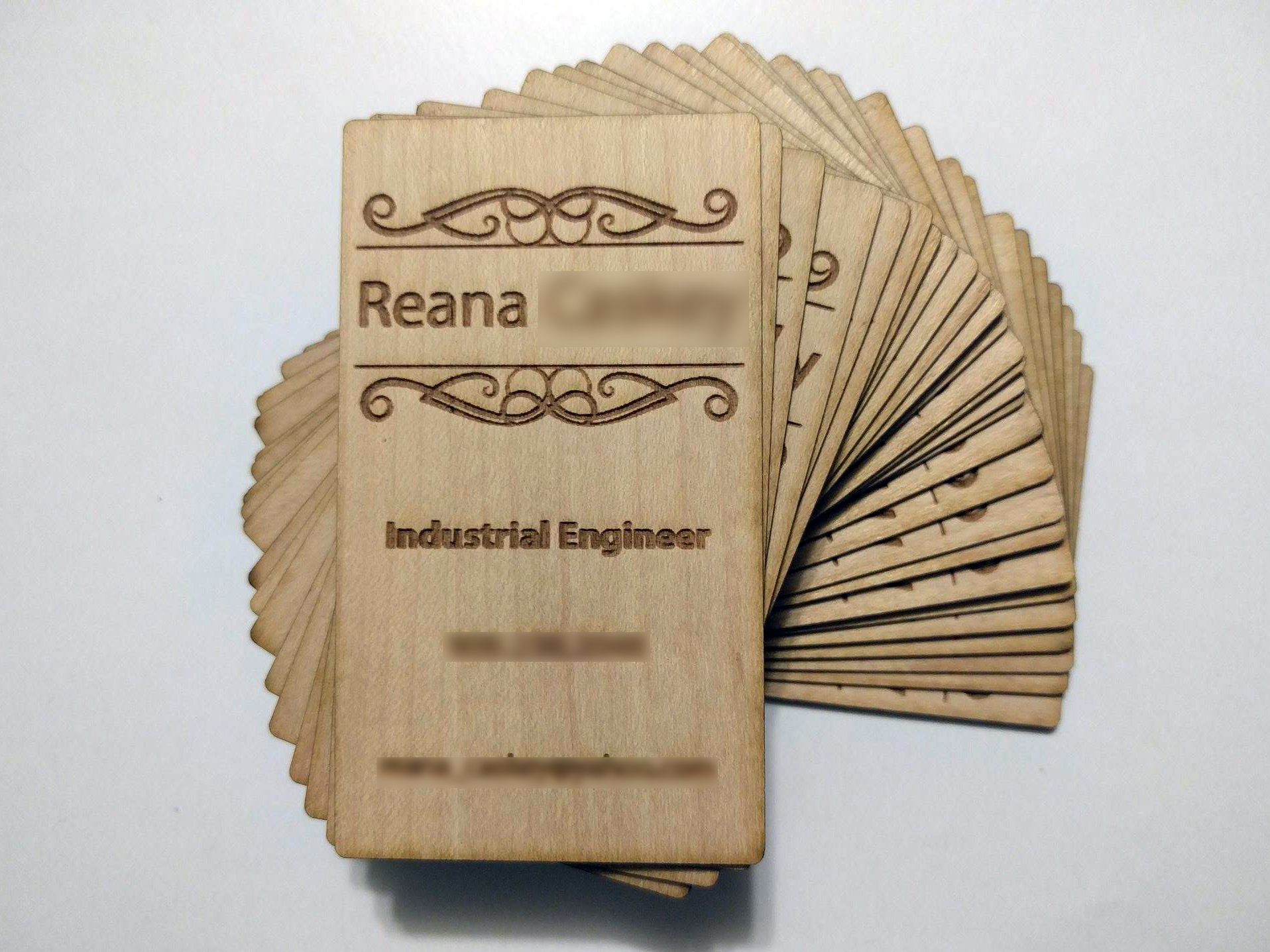 Custom Wood Business Cards