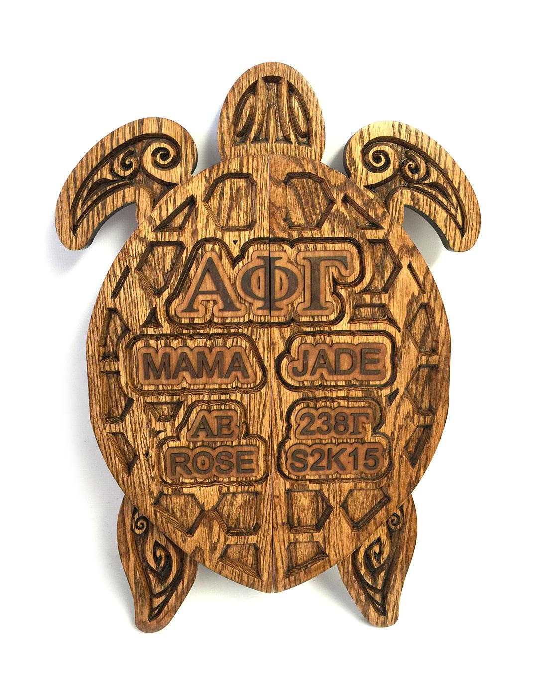 custom v-engraving turtle paddle
