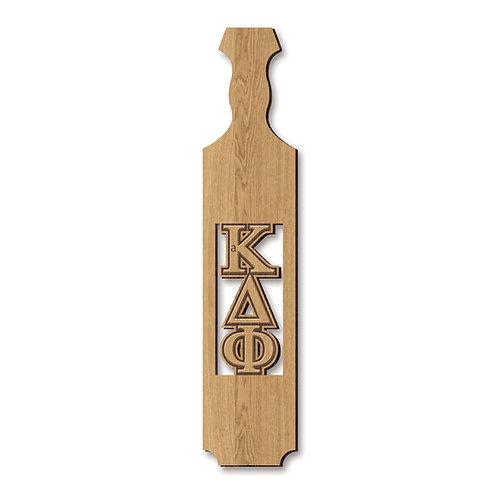alpha Kappa Delta Phi Traditional Greek Paddle w/ Unassembled Letters, Oak