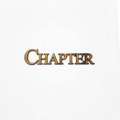 """Chapter"" Connected Letters with Adhesive Backing, Single-Stacked"