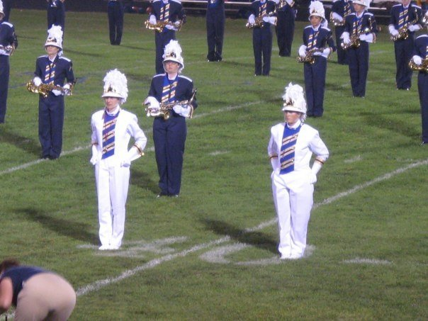2009-2010 JWHS Band Drum Majors
