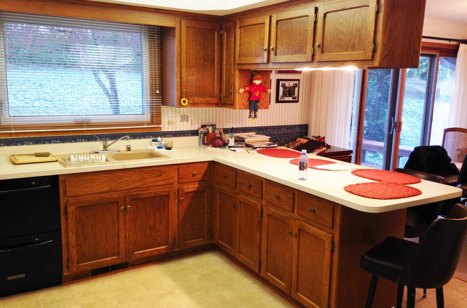 Kitchen Refacing Before